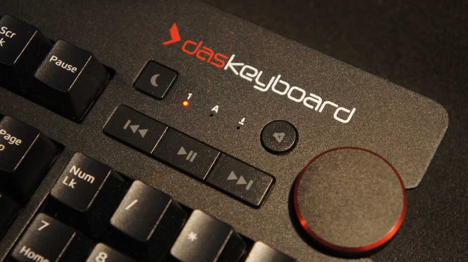 An image of the keyboard assembled with new red LEDs