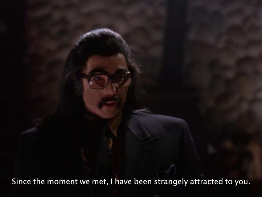Mr. Tojamura confesses his feelings to Pete Martell in Twin Peaks